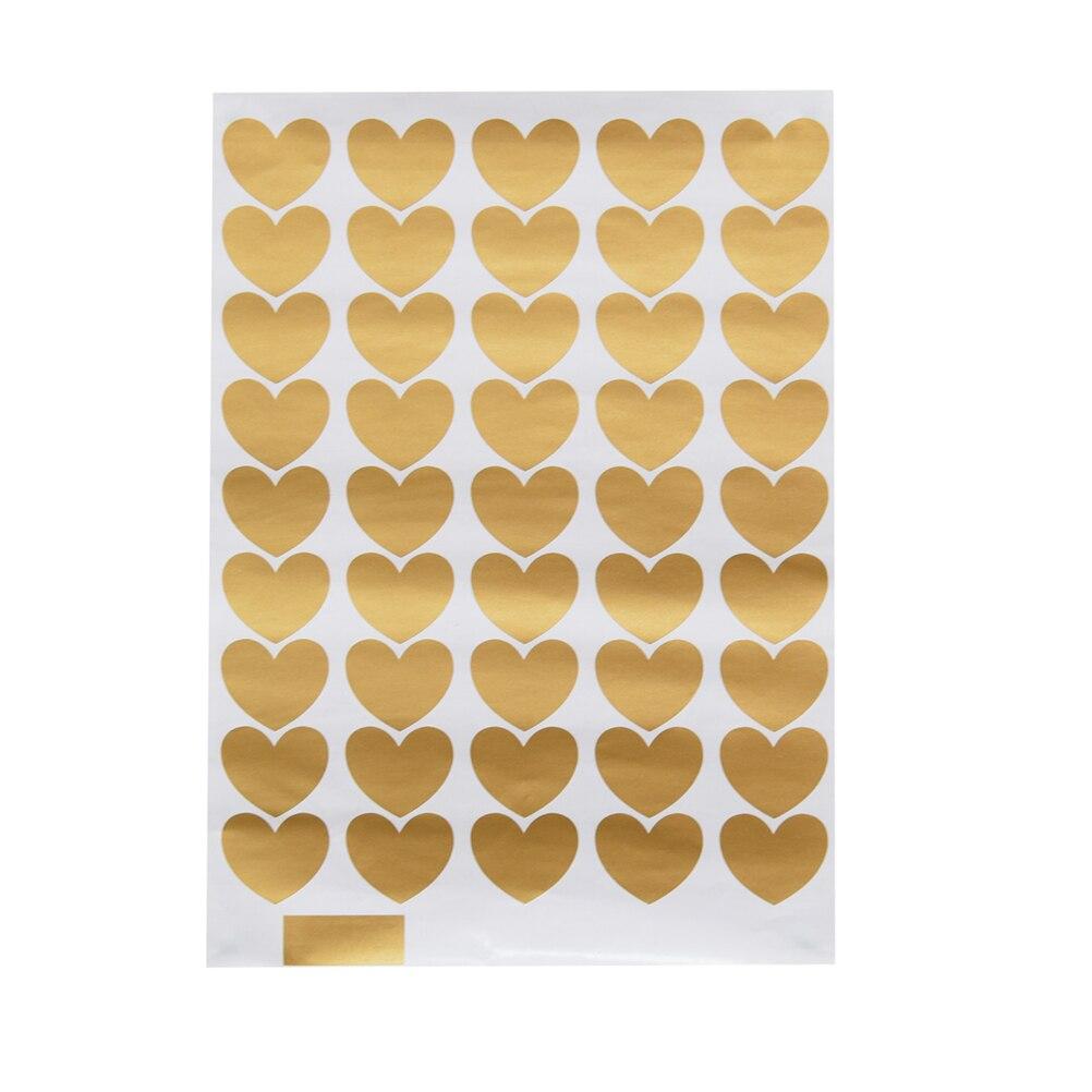 1set 2 Size Metallic Gold Wall Stickers Heart shaped Pattern Vinyl ...