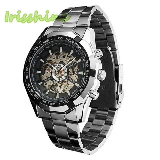 Steampunk Mens Automatic Mechanical Wrist Watch Military Style
