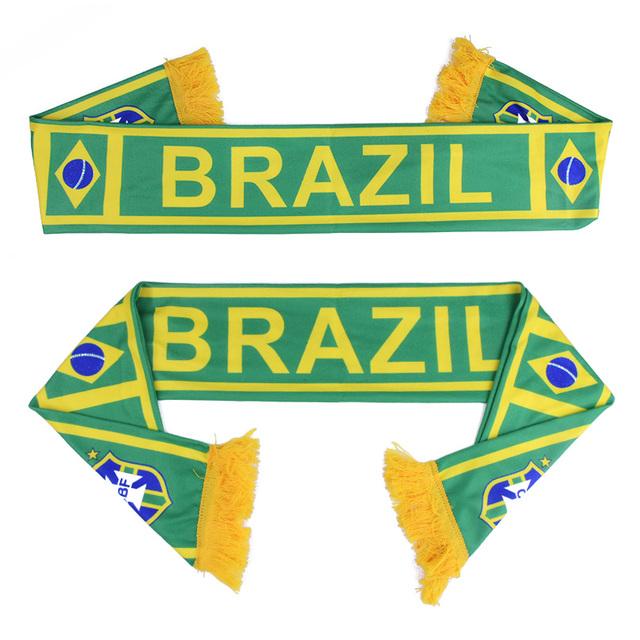 Football Fans Scarf Soccer Fan Scarf 32 Football Teams Countries Team Scarf Flag Banner Football Cheerleader Gift Scarf Souvenir