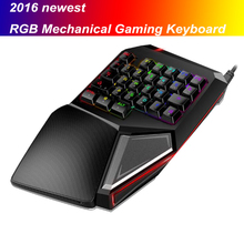 2016 Delux T9 plus Portable USB Wired RGB Mechanical Gaming Keyboard gamepad LOL CS CF dota2 PC gamer