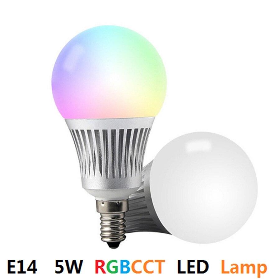 Mi. Light E14 5 W RGBCCT ampoule LED connectée 4 pièces + 1 pc WIFI + 1 pc 4 Zone RF télécommande sans fil pour ampoule LED intelligente Milight - 2