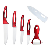 New Arrival 5 Pcs Set Zirconia Ceramic Knife Set Kitchen Knives Fruit Vegetable Peeler Kitchen Accessories