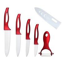 New Arrival 5 Pcs Set Zirconia Ceramic Knife Set Kitchen Knives Fruit Vegetable Peeler Kitchen Accessories