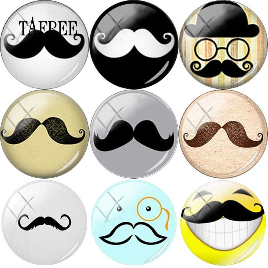 TAFREE 5 size 12mm/15mm/16mm/18mm/20mm Moustache Beard many Pattern 5pcs/lot Flat Back Resin Cabochons Cameo