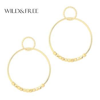 Женские серьги-капельки Wild & Free Bid, простой тренд золотого/серебряного цвета, праздничные украшения