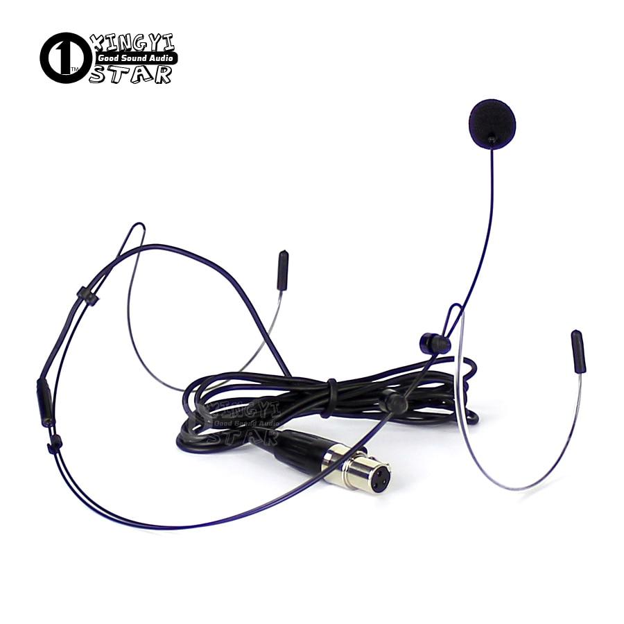 Mini XLR 3 Pin TA3F Plug Wired HeadWorn Headset Microphone Professional Condenser Mic For SAMSON UHF Wireless System Transmitter