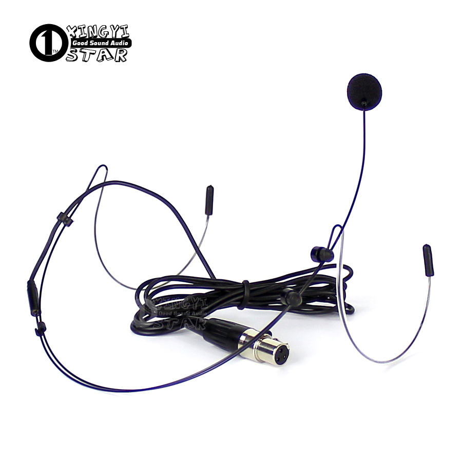 Mini XLR 3 Pin TA3F Plug Wired HeadWorn Headset Microphone Professional Condenser Mic For SAMSON UHF Wireless System Transmitter