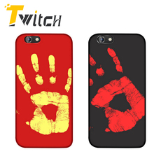 Twitch For Apple iPhone 6 6s plus 7 7 plus Cases Thermal Sensor Funny Back Cover Physical thermal discoloration Phone Shell