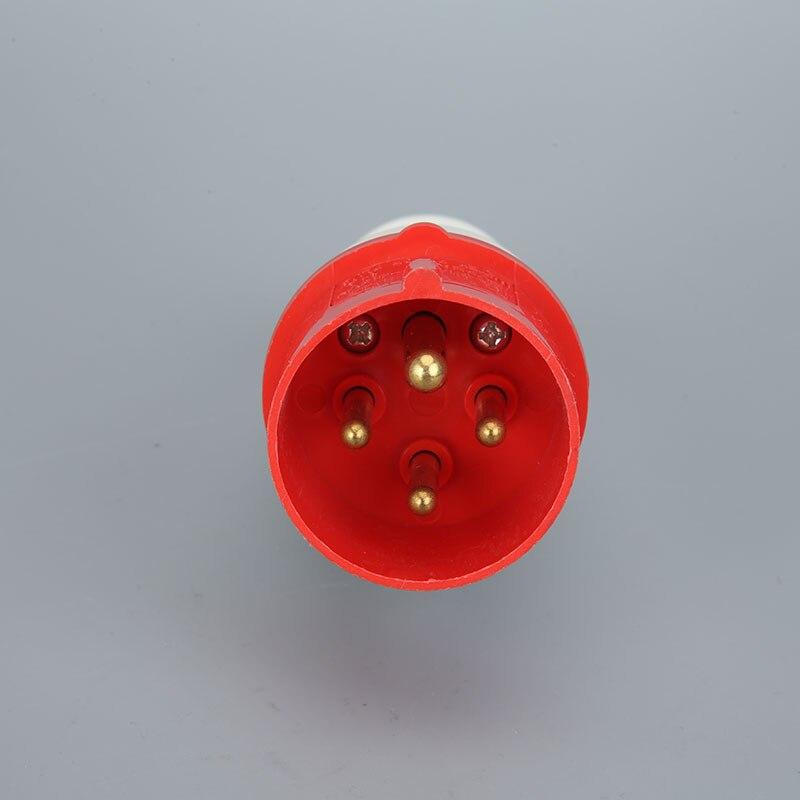 5 connecteur à broches 3 phases 380-415V étanche IP44 16A Industrial 3P