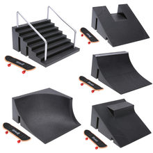 1set Skate Park Griffbrett Skate Park Griffbrett ABCDEF Bord Ultimative Parks Mini Skateboard Spielzeug professionelle griffbrett spielzeug(China)