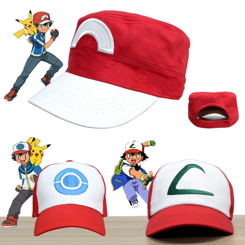 2017 Kids Adult Pokemon Go Cosplay Cap Drake Hip Hop Pikachu Pocket Monster Baseball Cap Ash Ketchum Cosplay Tranier Pokemon