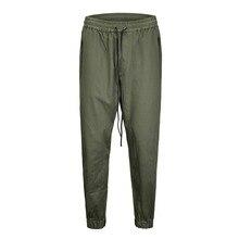 ФОТО high quality 2018 new elastic design ankle pants joggers full length pants men hip hop casual sweatpants men hip hop trousers
