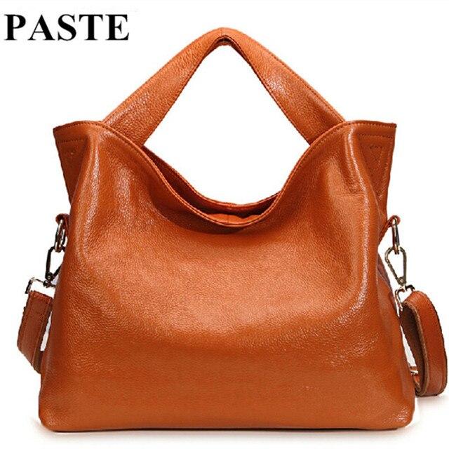 New Fashion Women Natural Leather Messenger Bags Genuine Handbags Russian European Style Shoulder