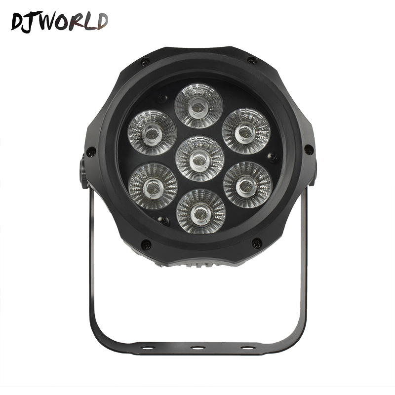 Easy To Carry Waterproof LED Par 7x12W RGBW DMX512 Stage Lighting Effect Outdoor Lights IP65 Good For DJ Open Air Party