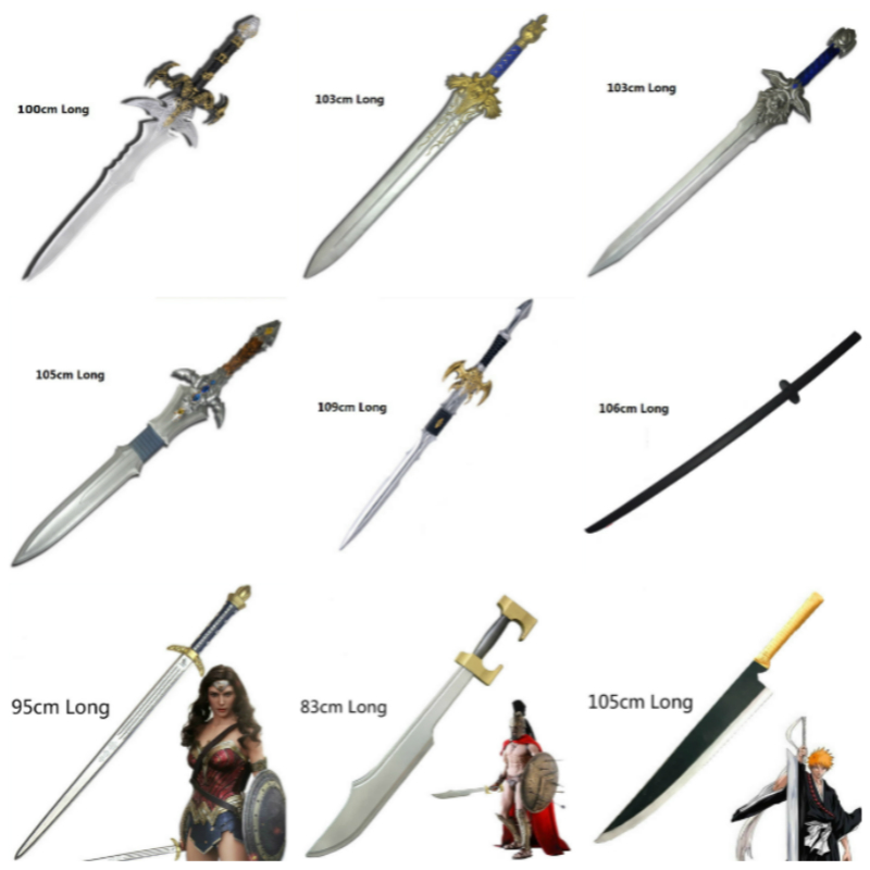 Weapon Deathpool Anime Cosplay for Frostmourne Sword for Sparta of Soul Dark Elf Sword for Marvelous Woman for Royal Guard Sword image