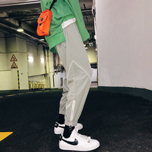 Fashion Casual Men's Trousers Spring And Autumn New M-2XL Stitching Loose Trousers Black Gray Personality Youth Popular braid psv bent fiber black and gray m 129638