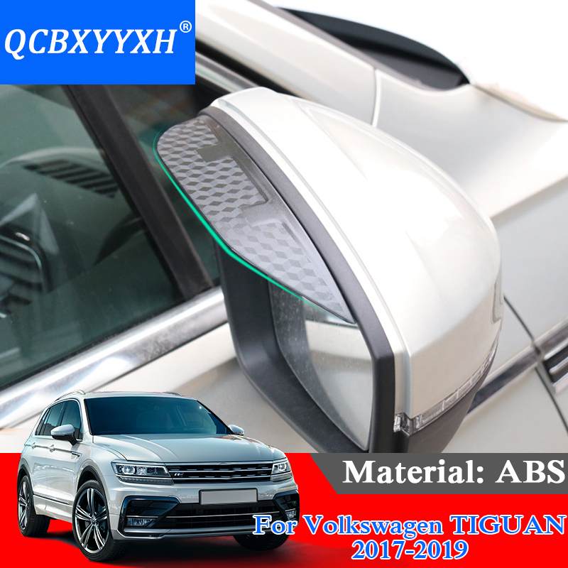 QCBXYYXH ABS For VW TIGUAN 2017 2019 Car Styling Carbon
