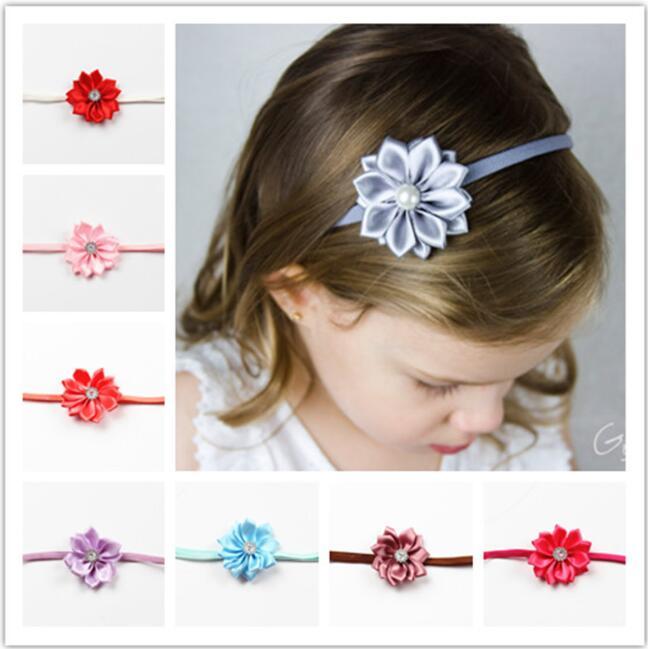 10pcs Flower Crown Headwear Girl Flower Tie Back Halo
