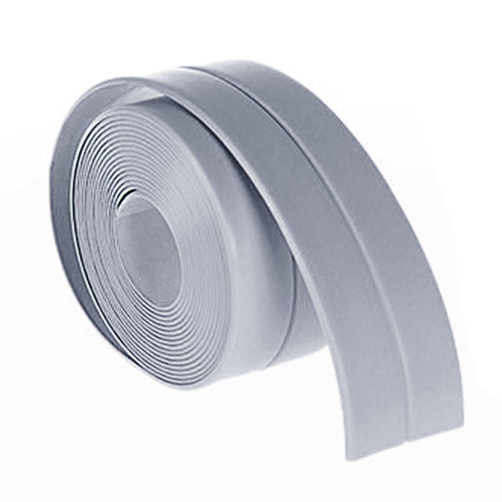 38mm*3.2M Home Kitchen Bathroom Bathtub Wall Sealing Tape Strips Mildew Resistant Self Adhesive Tape For Sink Basin Waterproof waterproof seam sealing tape roll satellite self amalgamating rubber sealing tape sealing cable repair lead