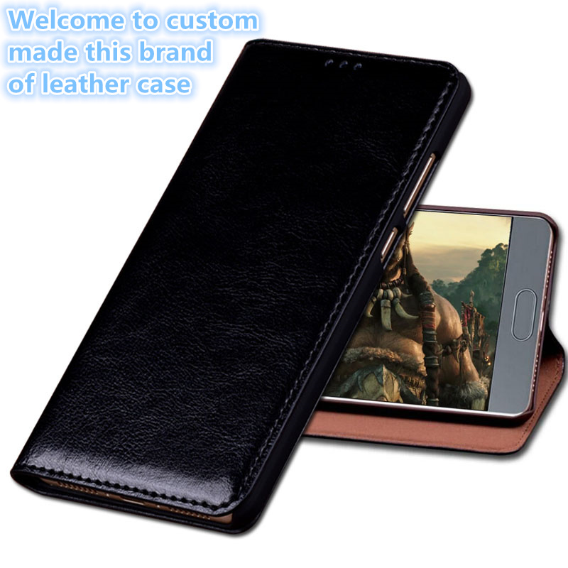 HX06 Genuinel Leather Flip Cover With Kickstand For Asus Zenfone 5 ZE620KL Phone Case For Asus Zenfone 5(6.2') Phone Cover
