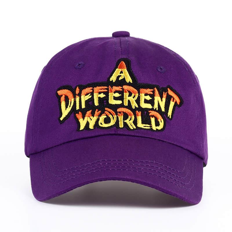 HTB1Uj9wSVXXXXX8XXXXq6xXFXXXT - VORON new Purple Multi Color A Different World Dad Cap men women Cotton baseball cap Bone Snapback Trucker Hat