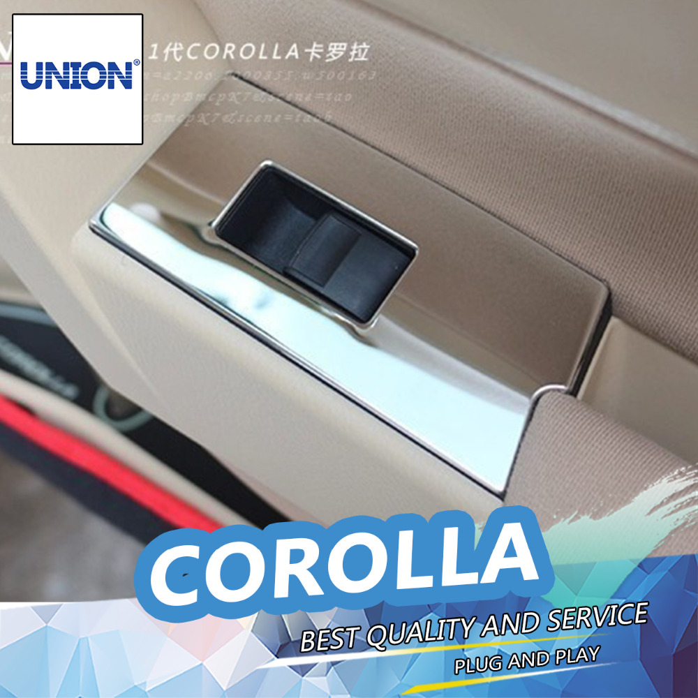 Car interior air quality - Union 11pcs Interior Air Vent Outlet Cover Trumpet Reading Lamp Trim For 2014 2015 Toyota Corolla High Quality Car Styling