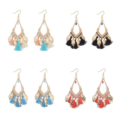 New Style Women Tassel Earrings Geometric Elements Rope Spike Hollow Bohemian Earrings Exquisite Jewelries Oorbellen Bijoux Sets in Drop Earrings from Jewelry Accessories