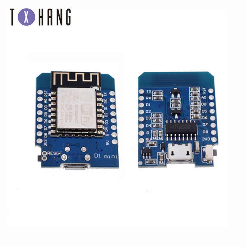 ESP8266 ESP-12 ESP12 WeMos D1 Mini Module Wemos D1 Mini carte de développement WiFi Micro USB 3.3V basé sur ESP-8266EX 11 broches numériques