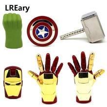 Offre spéciale en métal clé USB le lecteur de stylo Avengers 4G 8G 16G 32G fer homme main/bouclier/marteau/Hulk clé USB 64GB