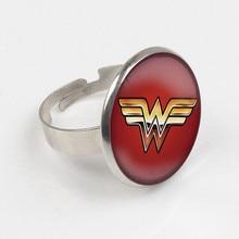 Wonder Woman Ring Wonder Woman Jewelry super hero Ring Glass Dome Ring жевательные драже jelly belly super hero wonder woman 60 г