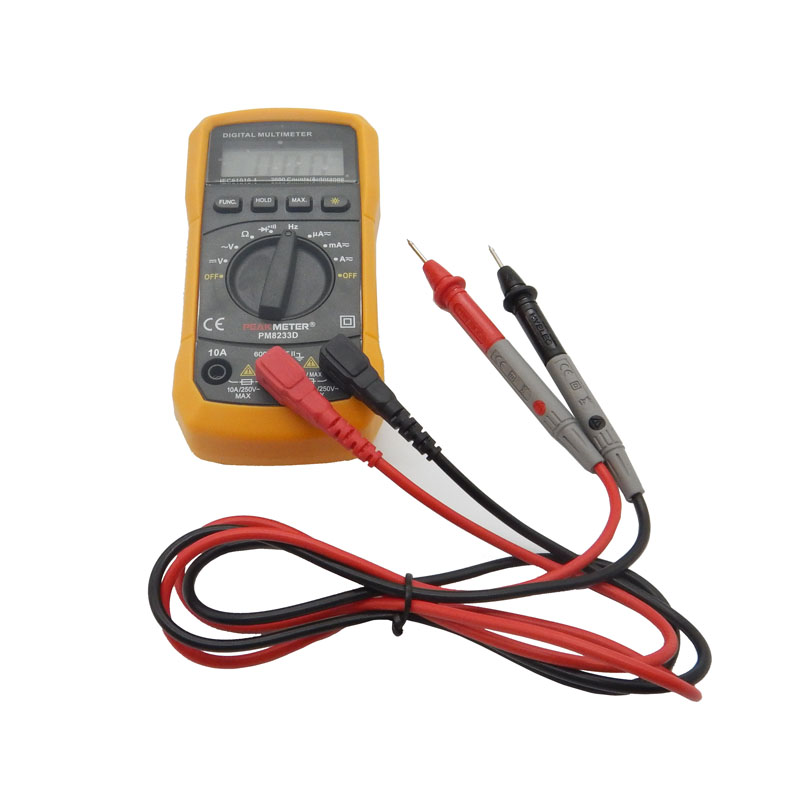 High Frequency Voltmeter : Digital multimeter tester counts lcd display