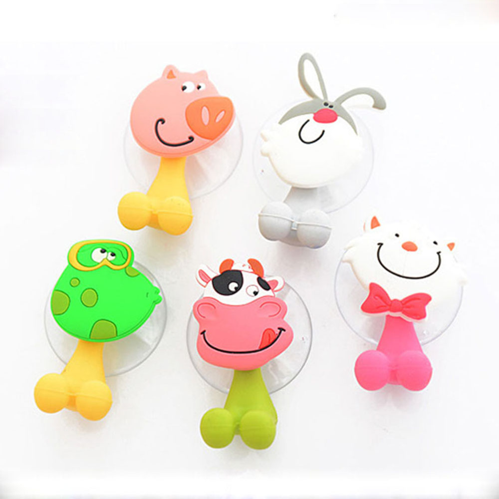 Горячие продажи милый мультфильм присоски для зубных щеток Крючки набор для ванной комнаты Аксессуары Экологичные предметы домашнего обихода