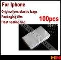 100 unids 15 cm * 28 cm caja del teléfono de plástico bolsas de embalaje film retráctil película de sellado térmico para iphone para samsung
