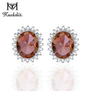 Image 1 - Kuololit zultanite宝石用原石のイヤリング固体925スターリングシルバー作成色変更diasporeソーダ石イヤリング
