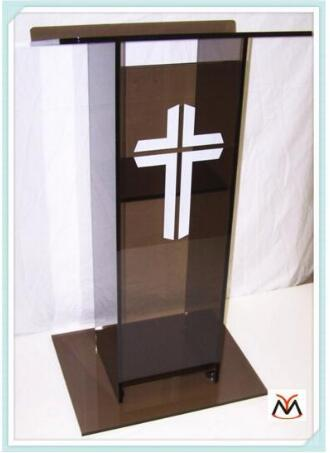 Free Shipping Transparent Popular transparent knockdown acrylic lectern for church