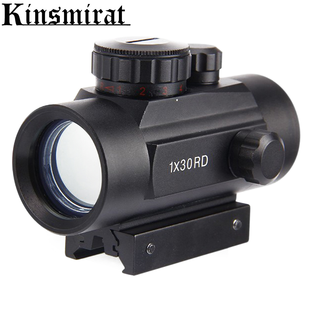 цены Airsoft Air Guns Rifle Riflescope Scopes Telescopic Red Green Dot 11mm 20mm Holographic Hunting Aim Device Tactical Optic Sight