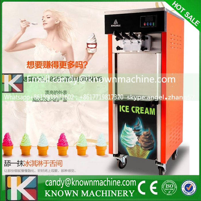 Delicious ice cream machine three heads(free ship by sea)