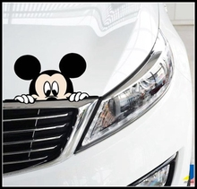 Hot Selling Cute Car Stickers Mickey Minnie Peeping Body Car Stickers Decorative Stickers Cover Scratches JSD-2055