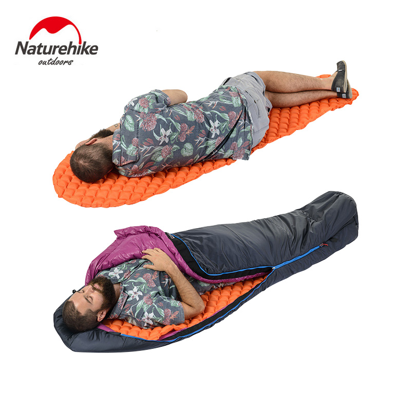 Naturehike Outdoor Camping Inflatable Tent Moisture-Proof Mat Single Pads With Pillow Mummy Lightweight Air Mattress Cushion mc 7806 digital moisture analyzer price with pin type cotton paper building tobacco moisture meter