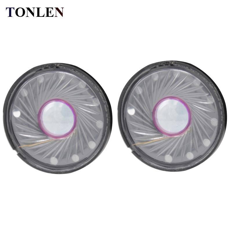 TONLEN 2ks 40mm stereofonní reproduktorová souprava 0,5W 32ohm Dynamická pohyblivá cívka Příslušenství pro reproduktory Headset HiFi Horn Parts