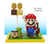 Mario mini Building Blocks cute cartoon models figure boys and girs DIY luige educational toys for children