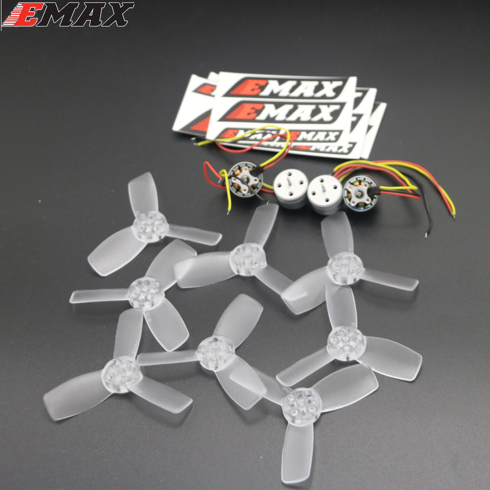1 set Original EMAX 4pcs RS1104 5250kv Brushless Motors with 2pair T2345BN 3 Blade Complete Propellers for Rc Quadcopter original emax 4pcs rs1104 5250kv