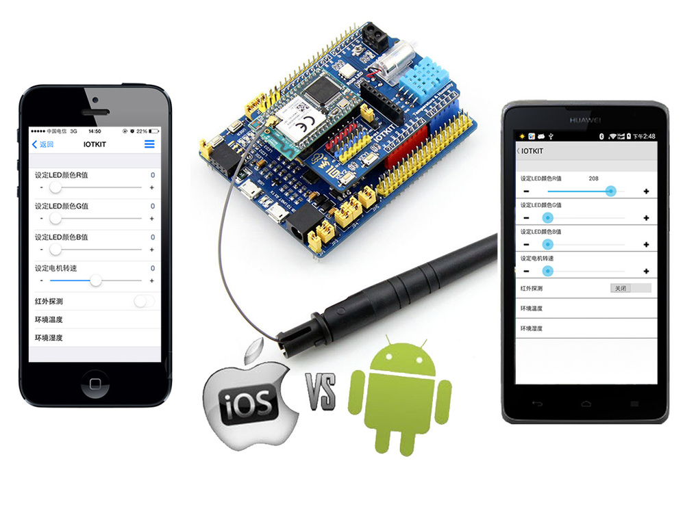 cloud control WIFI module STM32 development board is compatible with A mbed Things based on 51 development board home nrf905 nrf24l01 development board with the wireless module