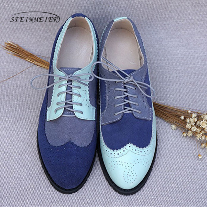Women genuine leather oxford shoes woman flats handmade vintage retro lace up loafers brown casual sneakers flat shoes for women cangma original newest woman s shoes mid fashion autumn brown genuine leather sneakers women deluxe casual shoes lady flats