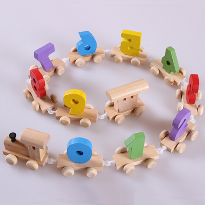 Train Building Blocks Toys For Children Baby Education Number Bricks Toys Magic Train Disassembly Assembly Car Toy number