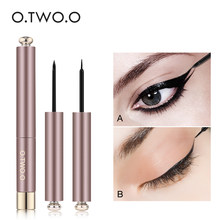 O.TWO.O Professional Thin Liquid Eyeliner Pen Silk Eye Liner Pencil 24 Hours Long Lasting Water-Proof Eyes Makeup Tools(China)
