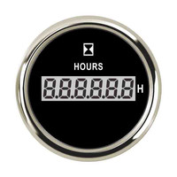 52mm Digital Hour Meter 0~99999.9 H Automotive Instrument Panel Hour Gauge Waterproof Clock Gauges Hourmeters 9 32v