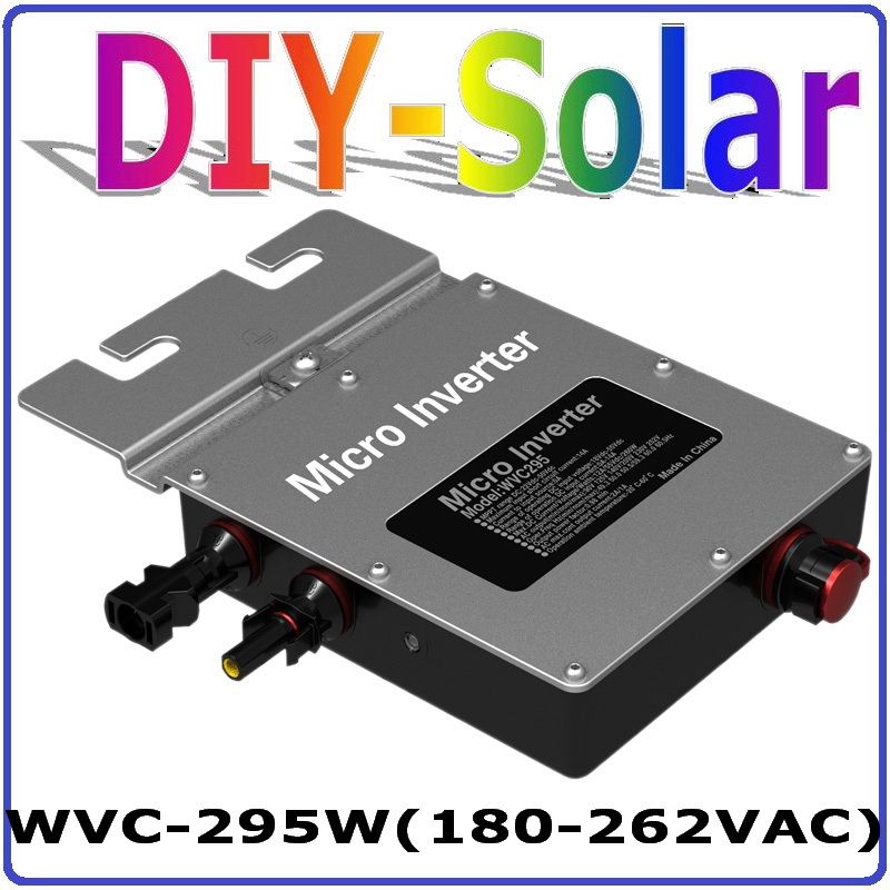 295W Grid Tie micro Inverter MPPT solar power pure sine wave output with Communication monitoring for 300W 36V solar home system playstation