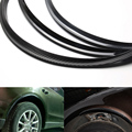 1pc Car Universal wheel eyebrow Carbon Fiber Style Fender Flare Lid Protector Guard Wheel Body Decoration NO Glue 117cm