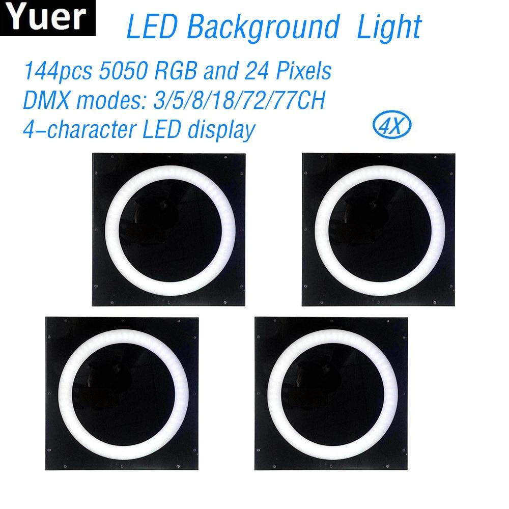 4 pcs lote pixes de halo led luzes de fundo 144 pcs rgb som ativado partido